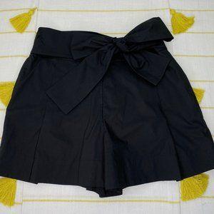 J Crew Black Tie Waist Shorts Womens 8 High Rise